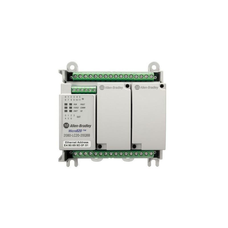 2080-LC20-20QBBR Allen Bradley Micro820 PLC System